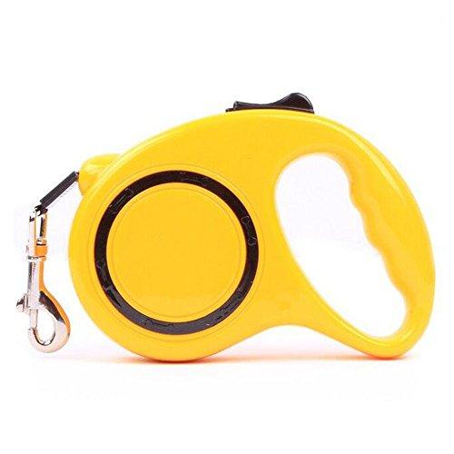 Amaoma 3m huisdier trekkabel Automatische intrekbare hondenriem huisdier hond trekketting Dog Artifactor (blauw + geel), geel