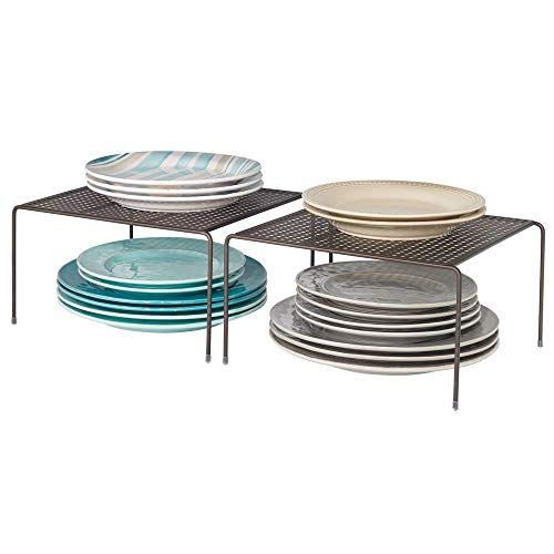 mDesign Modern Metal Square Kitchen Cabinet, Pantry, Countertop Organizer Storage Shelves...