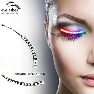 b0ff763768d LED Eyelashes Light with 7 Color Unisex Flashes Interactive Changing LED False  Lashes Shining Eyeliner Perfect