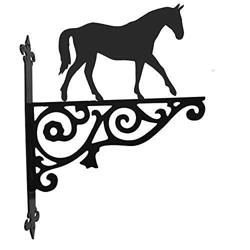 Stalen beelden Paard Wandelen Sier Hangende Beugel