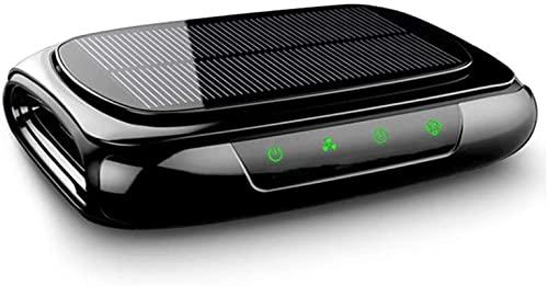 Deumidificatore solare wireless ricarica auto purificatore d'aria, oltre all'odore di formaldeide, ioni negativi, con funzione aromaterapia, purificazione intelligente al plasma, filtro a 4 livelli