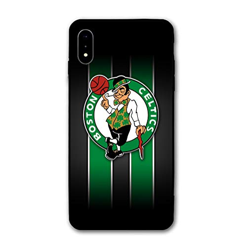 Phone Case for iPhone X iPhone Xs, Ultra-Thin Printed Acrylic Rear Panel Shockproof Anti-Scratch, with Soft TPU Bumper Military Cover for iPhone X/XS Only 5.8 inches (Celtics-Black)