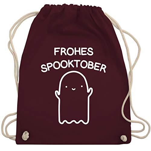 Shirtracer Halloween - Frohes Spooktober Halloween - Unisize - Bordeauxrot - Geschenk - WM110 - Turnbeutel und Stoffbeutel aus Baumwolle