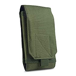 GoFree Tactical Phone Pouch Sleeve Case with Belt Loop Up to 6.2 inch (Army Green)