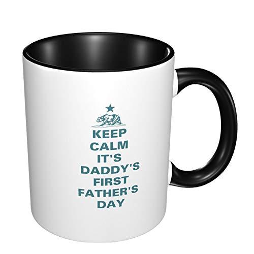 Tazas de café impresas personalizadas, regalo del día del padre, con texto en inglés 'Keep Calm California' para la oficina y el hogar