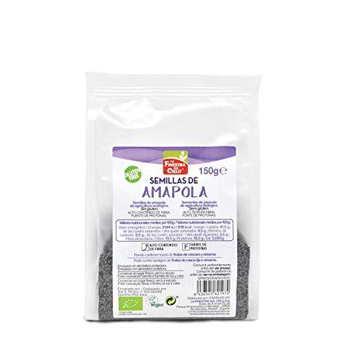 Semillas de amapola pulidas bio envase compostable - La Finestra sul Cielo - 150g (caja de 6 uds) Total: 900g