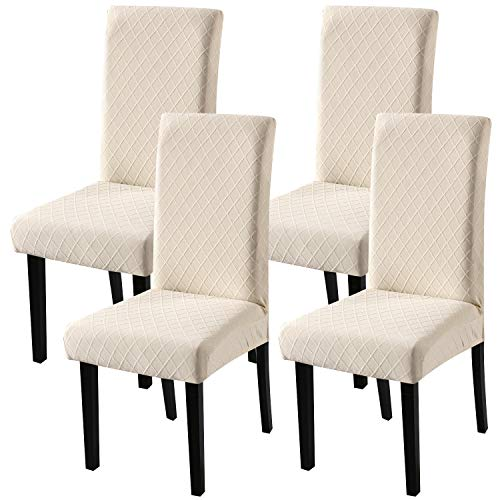 Fuloon Super Fit Stretch Chair Slipcovers For Dining, Hotel, Ceremony, Banquet Wedding Party