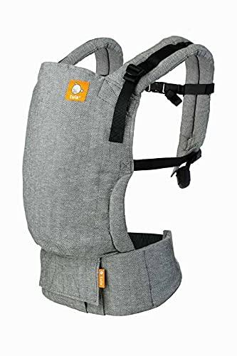 Baby Tula Free-to-grow Linen - Ash - Marsupio regolabile per neonati, ergonomico, con diverse posizioni 52% Lino, 48% Cotone per 3,2-20,4 kg