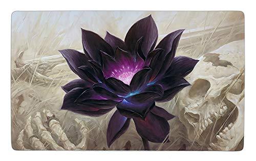 Magic Black Lotus Design Spielmatte / Custom Playmat + Arkero-G® 50 Standard Soft Sleeves MTG Kartenhüllen