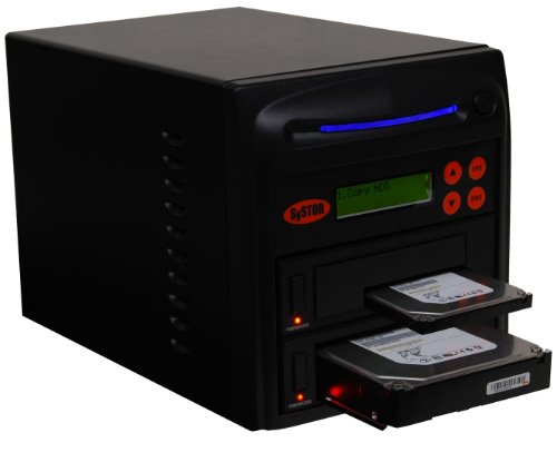 "Systor 1 to 1 SATA 90MB/s HDD SSD Duplicator/Sanitizer - 3.5"" & 2.5"" Hard Disk Drive Solid State Drive Dual Port Hot Swap (SYS101HS-DP)"