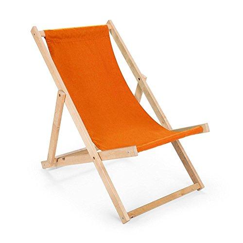 Chaise longue bain de soleil pliable, chaise longue de plage camping beau Deco gartenliege Outdoor Coussin Chaise longue Chaise longue relax Orange