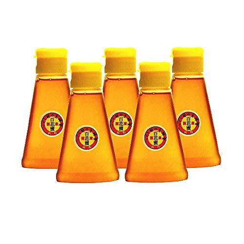 純粋国産蜂蜜 つくし村の生蜂蜜 百花蜜1000g 200gペットボトル5本セット