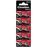 Camelion Blister 10 Piles Boutons AG13 LR44/LR1154/357 sans Mercure