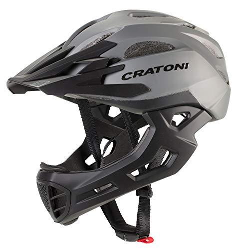 Cratoni C-Maniac Casco de Ciclismo Fullfacehhelm BMX Freeride Downhill (Stone, M-L (54-58...