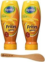 Frite Sauce Classic, Fritessaus (Remia), French Fry Sauce, 16.9 oz (Pack of 2) - with Spice of Life Spreader