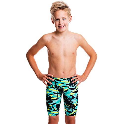 Flow Funky Swim Jammers - Size 24 to 30 Swimming Jammer Shorts for Boys in Eight Radical Swimsuit Designs (Tropic 32)