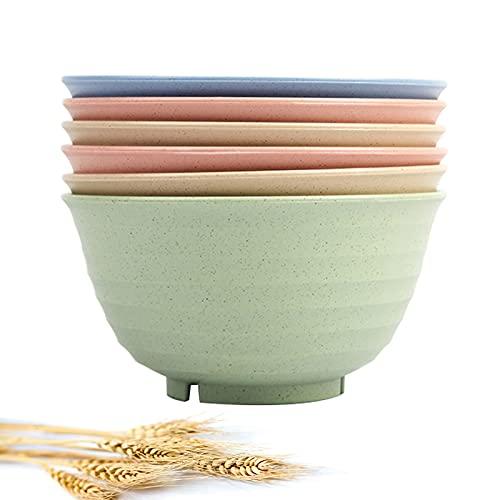Unbreakable Cereal Bowls, 30 OZ Large Lightweight Wheat straw Fiber Bowl Sets.For Soup,Dessert and Salad , Easy Dishwasher Safe(7 inch)Cereal Bowls