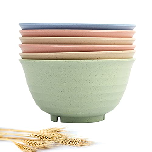 Unbreakable Cereal Bowls, 30 OZ Large Lightweight Wheat straw Fiber Bowl Sets.For Soup,Dessert and...