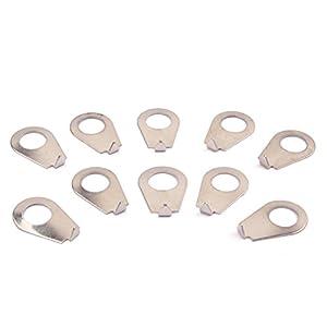 10 Stücke Gitarre Geschwindigkeit Glocke Knopf Scheibe Zeigerplatte Stahl Knopf Pointer für Gibson-Stil Knöpfe (Chrom)
