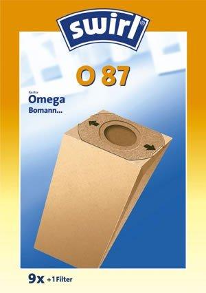 Swirl O 87 original: 9 Premium Papier Staubsaugerbeutel