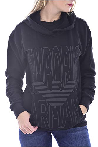 Emporio Armani Sudadera con capucha Maxi Logo negro Negro XL