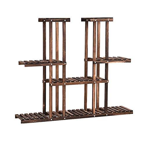 YXB 4 Tier Bloem Ladder Display Rack Houten Balkon Bloemenstandaard Gratis Staande Tuin Decoratieve Plant Stand Opslag Rack