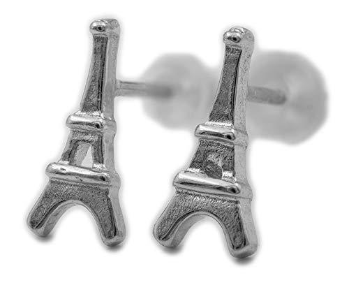 Pendientes de plata 925 S0696 Torre Eiffel París