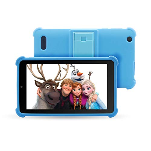 Venturer Small Wonder 7' Android Kids Tablet with Disney Books, Bumper Case & Google Play, 16GB Storage & 2GB RAM Dual Band 5GHz/2.4GHz WiFi (Blue)
