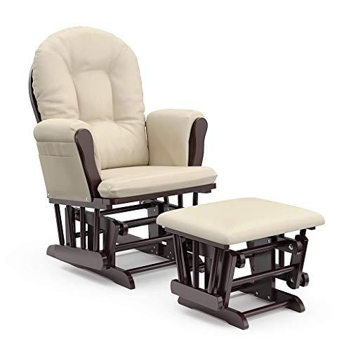 Zyfpower Chaise à Bascule de maternité Glider et Glider Stillstuhl Schaukelstuhl + Hocker mit Schaukelfunktion verstellbare Lehne + Polster in Relaxstuhl TV Sesselrepose-pied