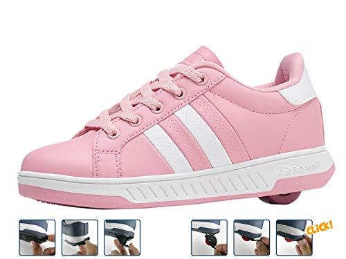 Breezy Rollers 2176242, Rollschuh, Schuhe mit Rollen, 2-in-1 Kinderschuhe, Skateboardschuhe, Sneakers (pink, Numeric_38)