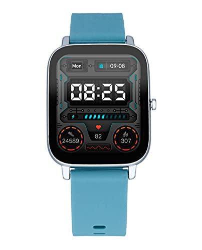 Reloj Smart de Radiant. Colección Palm Beach. Reloj con Correa de Silicona Azul y Caja Plateada. 35,6mm de Ancho. IP67. Referencia RAS10304.