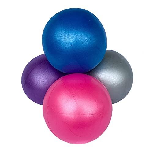 Swissball Palla Fitness Piccola 25 Cm Ginnastica Allenamento Esercizi Palestra Pilates Yoga Crossfit Medica Morbida Rimbalzante Riabilitazione Gonfiabile (Grigio)