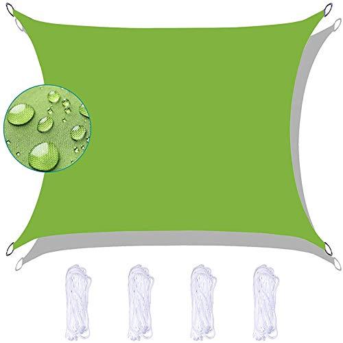 AXHSYZM Toldo Vela de Sombra Rectangular Transpirable para Patio, Exteriores, Jardín,Green,2X2.5m