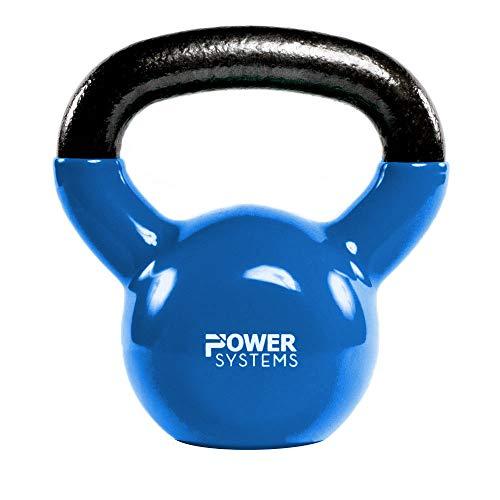 Power Systems Premium Kettlebell Prime, 40 Pounds, Light Blue (22850)