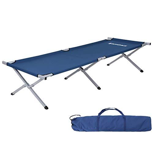 SONGMICS Campingbett Feldbett Gästebett mit Transporttasche XXL 210x72x45 cm GCB21L, Stahl, 210 x 72 x 45 cm