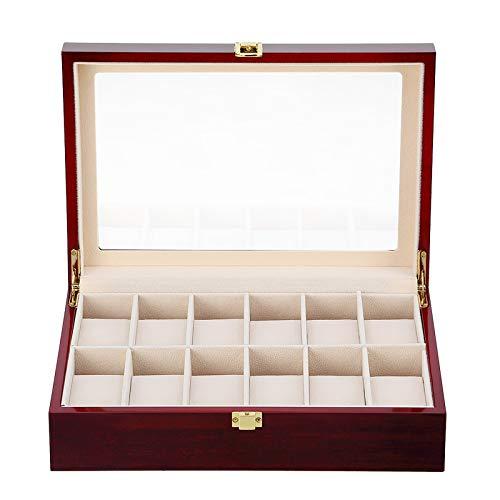 Uten Caja para Relojes de Madera Estuche para Relojes y joyeros con 12 Compartimentos
