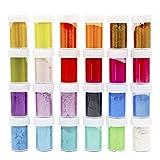 bhty235 resina epoxi color – 24 unidades / Set de polvo de perla brillante purpurina Sliam DIY Crafts fabricación de pigmentos epoxi.