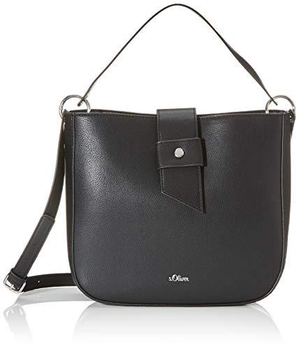 s.Oliver (Bags Damen 39.002.94.5818 Tasche Schultertasche, Grau (Grey/Black), 10x25x26.5 cm