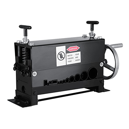 Happybuy Cable Wire Stripping Machine Φ1.5mm~Φ20mm Wire Stripping Machine 10 Channels Wire Stripping Machine Tool Manual Hand Cranked Industrial Wire Stripping Recycle (10 Channels)