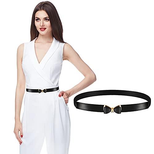 Cintura Donna Elasticizzata Cintura Sottile In Vita Con Fibbia Fiocco Cintura Elastica Retrò Cinch Donna