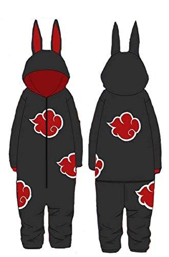 U/N Naruto Onesie Pyjamas, Anime Japanische Ninja Hokage Herren Jungen Alles in einem Kostüm Cosplay Loungewear Nachtwäsche Bademantel