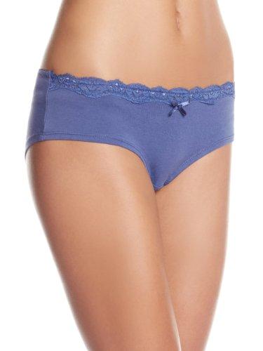 Bwitch Women's Plain Cotton Briefs (BW368-0001_Indigo Blue_Small)