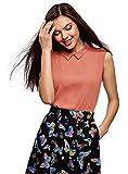 oodji Ultra Mujer Blusa de Tejido Fluido, Rosa, ES 34 / XXS