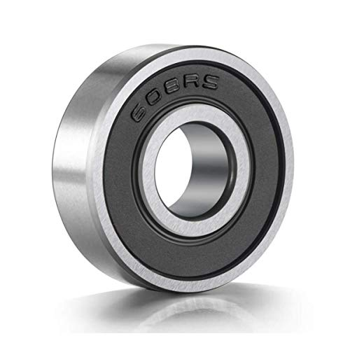 10 Pack 608-RS Ball Bearing - Double Rubber Sealed Shielded Miniature Deep Groove 608rs Bearings for Skateboards, Inline Skates, Scooters, Roller Blade Skates & Long Boards (8mm x 22mm x 7mm)