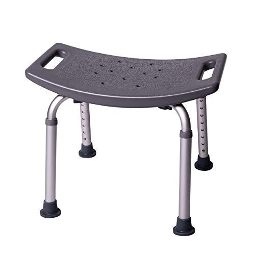 ONVAYA Taburete de baño 150 kg gris | Taburete de ducha | Asiento de ducha | silla de ducha ⭐