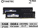 Timetec Hynix IC 32GB (2X16GB) DDR4 2400MHz PC4-19200 288 Pin UDIMM Desktop PC Arbeitsspeicher (32GB (2X16GB))