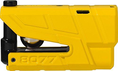 ABUS 8077 2.0 SRA-Approved Motorcycle Alarm Disc Lock, Yellow