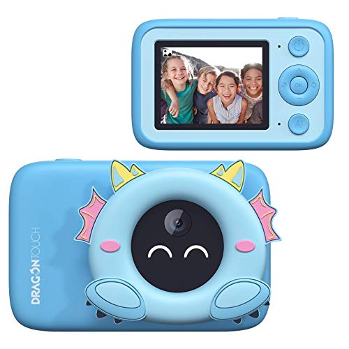 Dragon Touch Aicam Kids Camera, Digital Camera with AI Photo Recognition, Educational Toy for Kids, Toddler Camera WiFi Connection, Best Birthday Gift for 3-12 Years Boys and Girls(Blue)