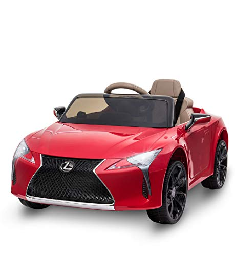 HOMCOM Kinderauto von Lexus Kinderfahrzeug Elektroauto mit MP3 Licht Musik Kunststoff Metall Rot 106x63x44 cm