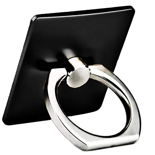 Finger Ring Stand, Cell Phone Holder, Universal Phone Ring Kickstand Compatible with Phone Xs Max XR X 8 7 6 6s Plus 5s,Samsung Galaxy S8 S7 S6, iPad, Samsung HTC Nokia Android Other Smartphone-Black